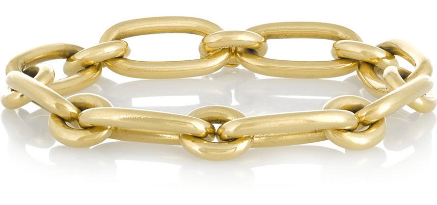золотой браслет - цепь