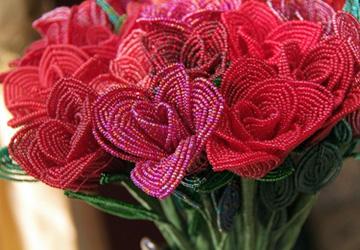 Цветы из бисера для жадных мужчин
