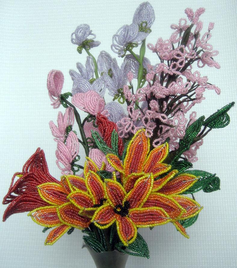 Фотографии красивые цветы из бисера, формат