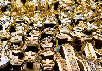 Кольца из золота и бивня мамонта
