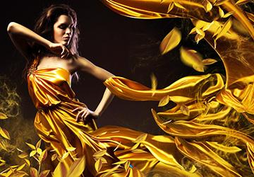 Золотая одежда и аксессуары 2019