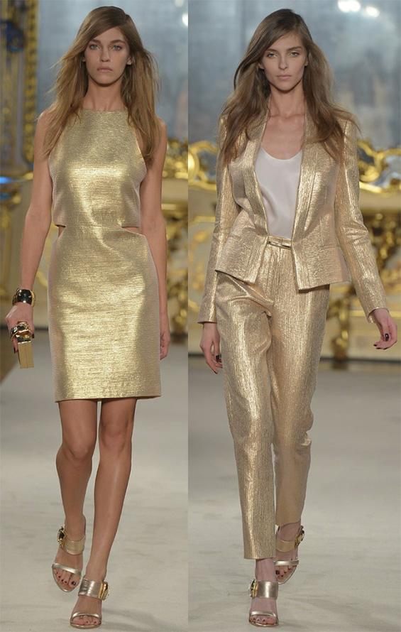 Золотое платье и костюм