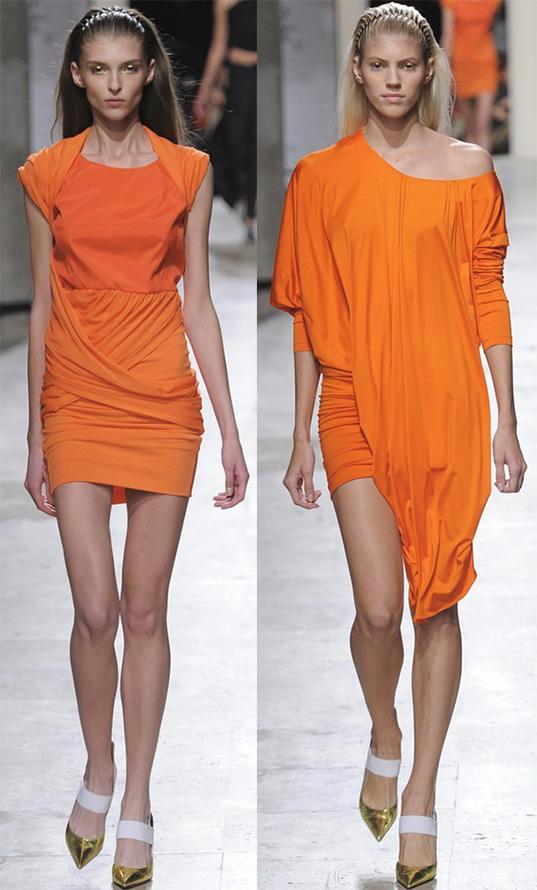 Оранжевые платья весна-лето 2015