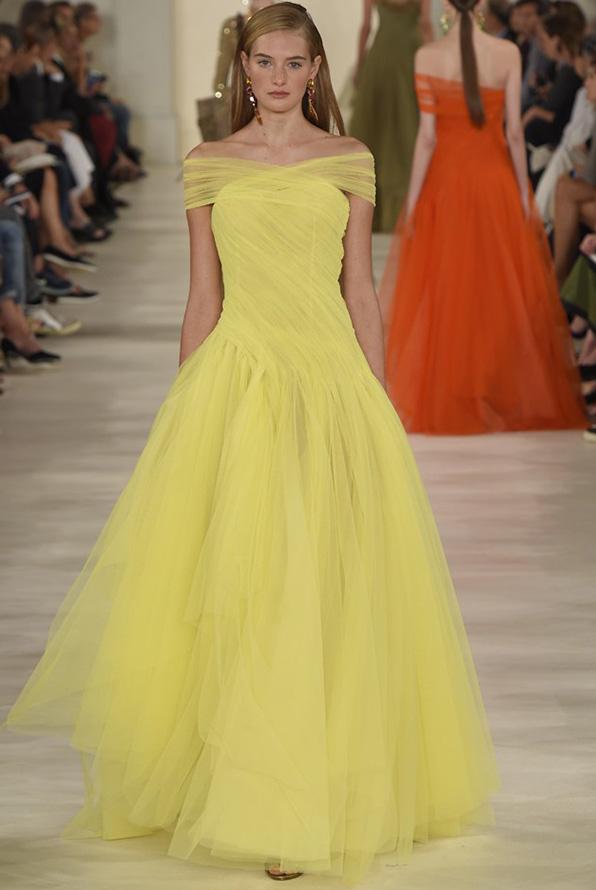 Желтое платье 2015