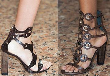 Босоножки на каблуке 2015