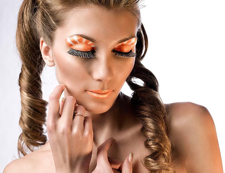 Апельсиновый макияж