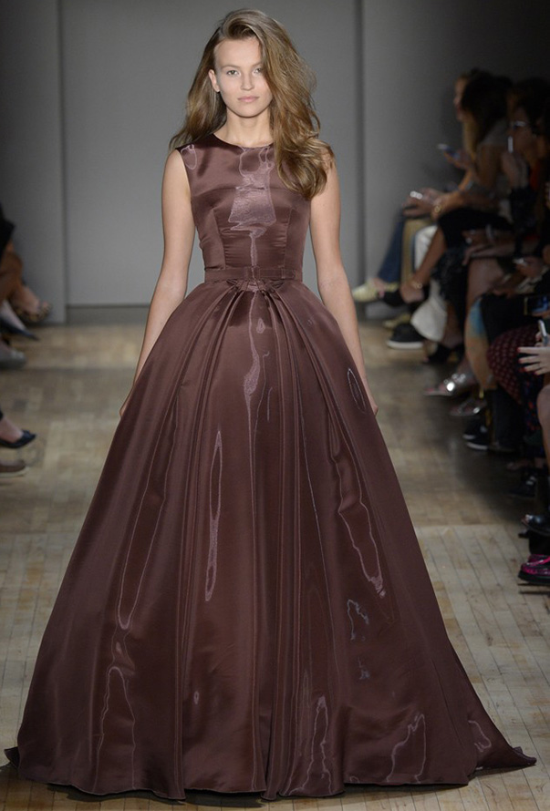 Бальное коричневое платье