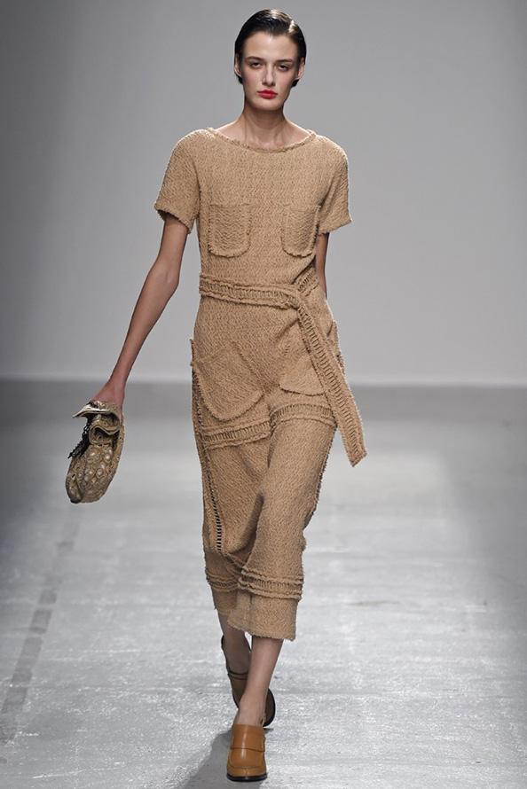 Veronique Leroy коричневое платье