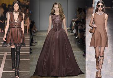 Коричневые платья весна-лето 2015