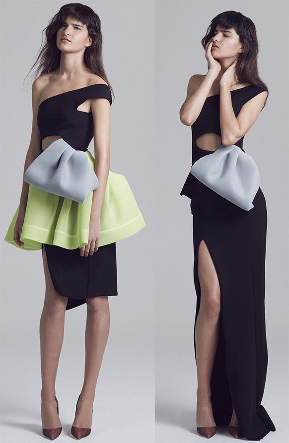 Платья на одно плечо весна-лето 2015
