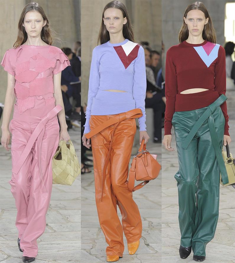 Модные женские кожаные брюки