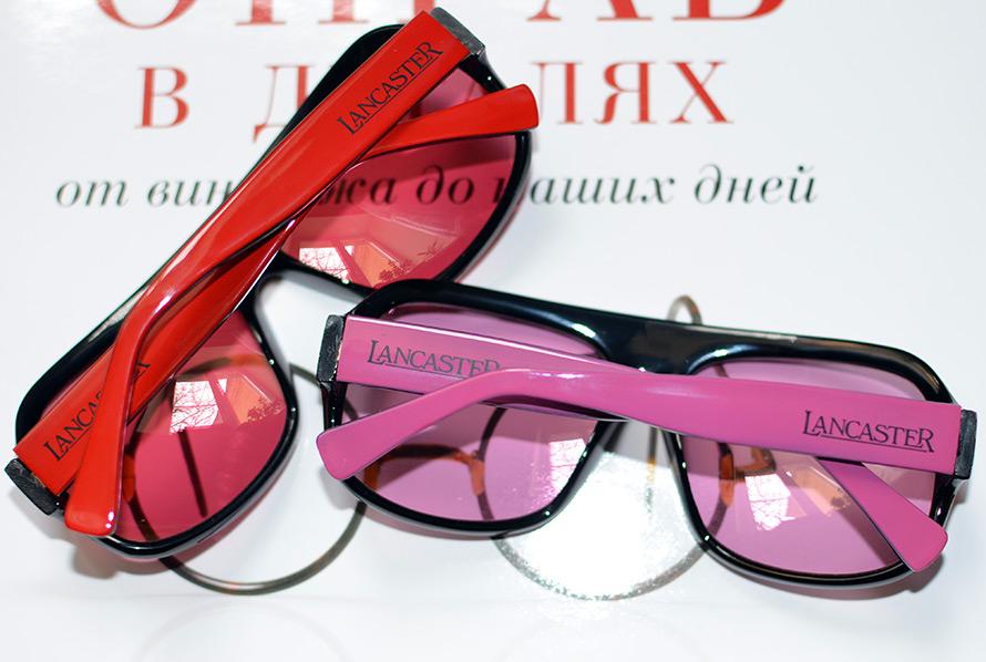 красные фиолетовые солнцезащитные очки