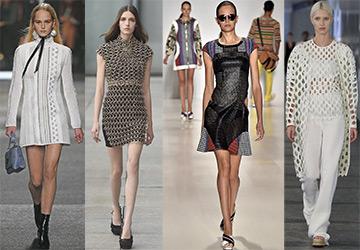 Сетка в модных коллекциях весна-лето 2015