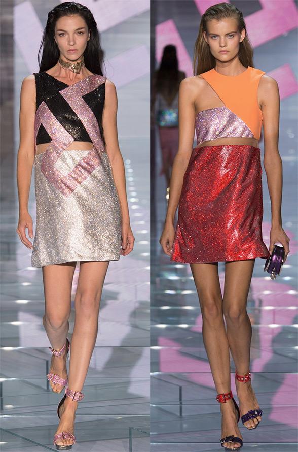 Сверкающее платье Versace
