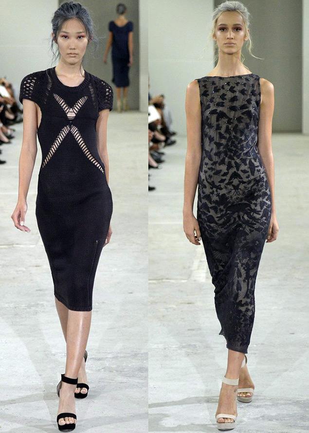 Темные платья весна-лето 2015
