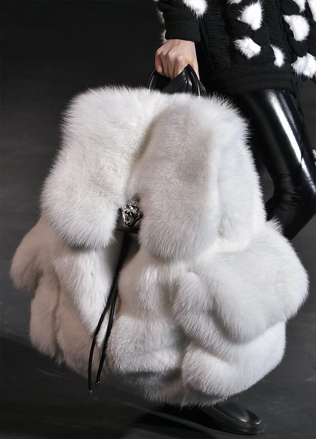 Меховой рюкзак сумка Philipp Plein