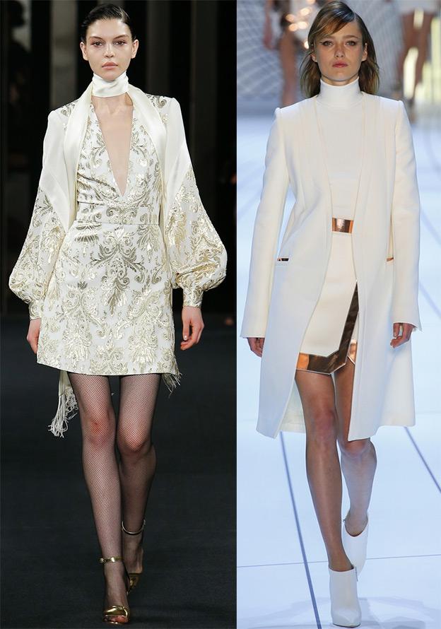 Белое платье и белое пальто