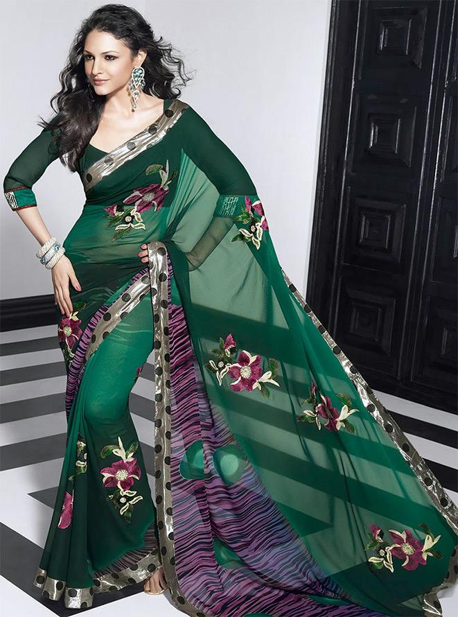 Индийское сари в мире моды
