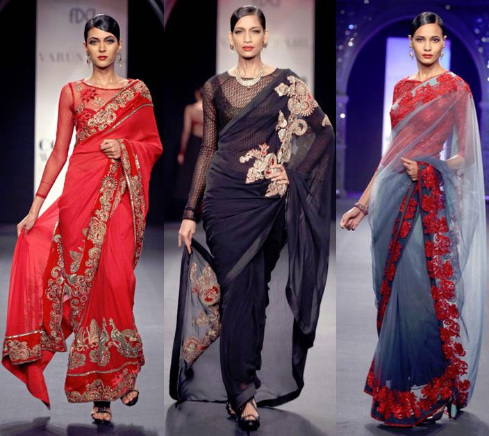 сари в мире моды