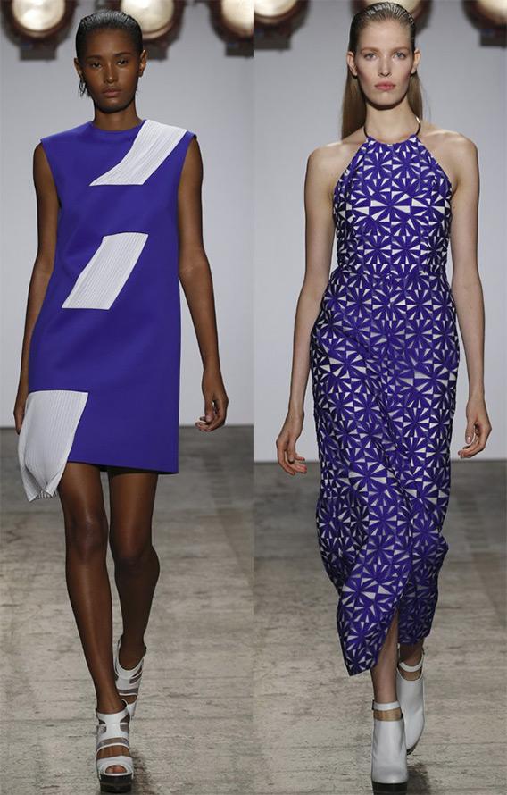 Модные платья синего цвета на лето 2015