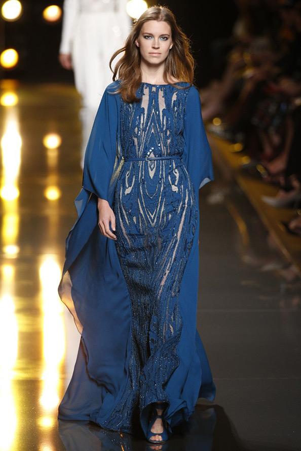 Синее платье Elie Saab