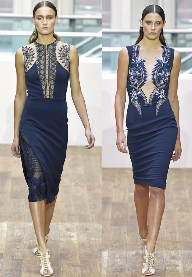 Темно-синие платья Julien Macdonald