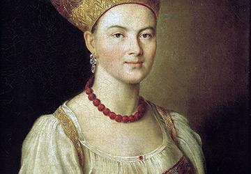 Образ русской женщины в наряде Московской губернии