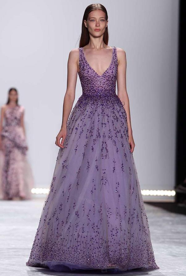Серо фиолетовое платье