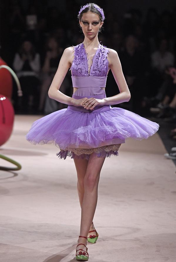 Фиолетовое платье 2015