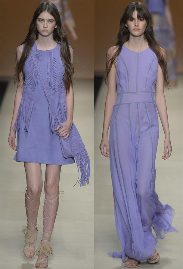 Фиолетовые и лавандовые платья 2015