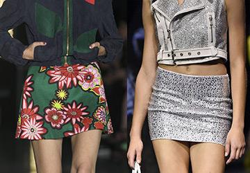 Самые короткие юбки 2015