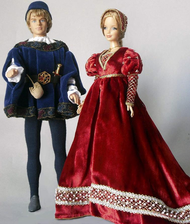 Наряды для кукол от Клод Брабант