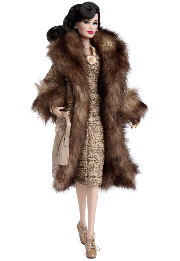 Кукольное пальто с мехом