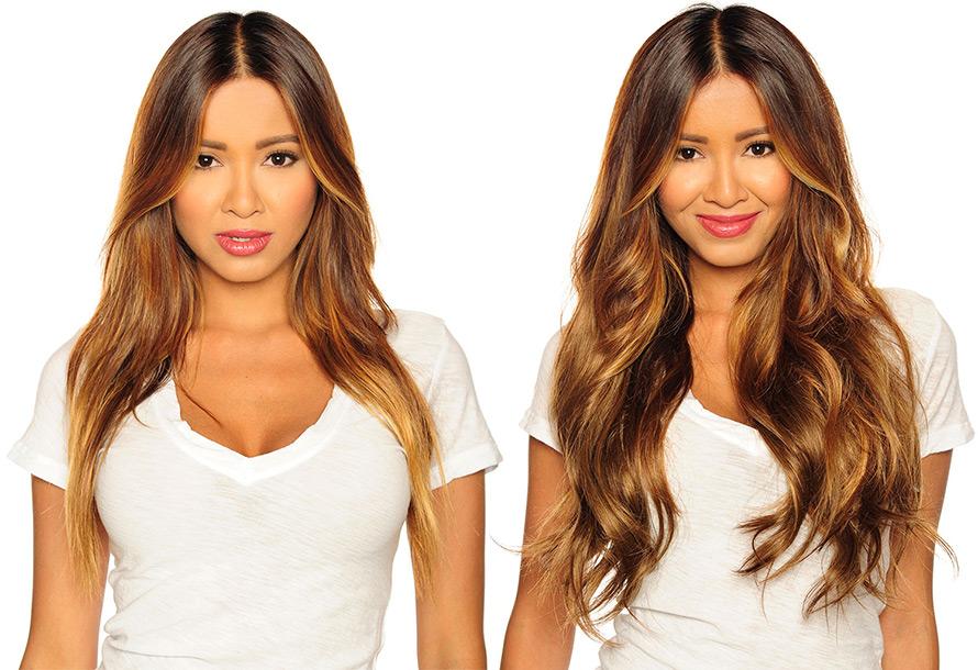 Волосы на заколках и типы волос для наращивания