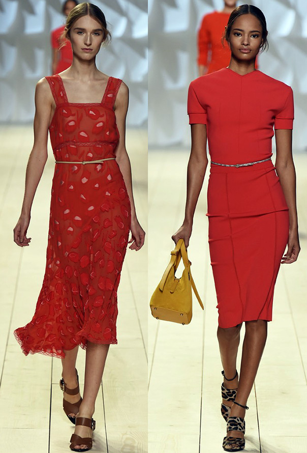 Красные платья на лето 2015