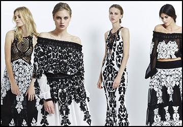 Черно-белые платья 2015