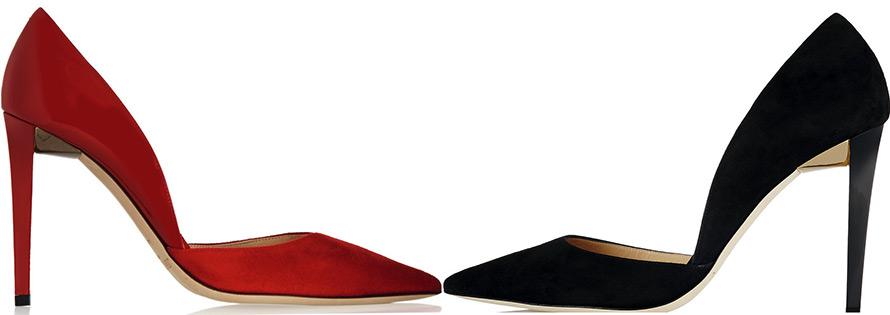 Девушки в обуви разного цвета