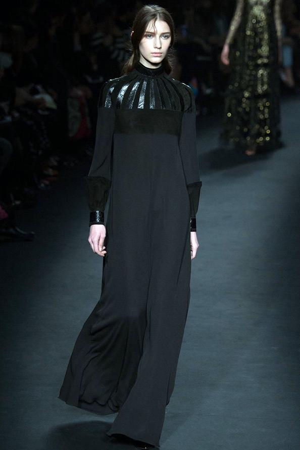 Valentino длинное черное платье