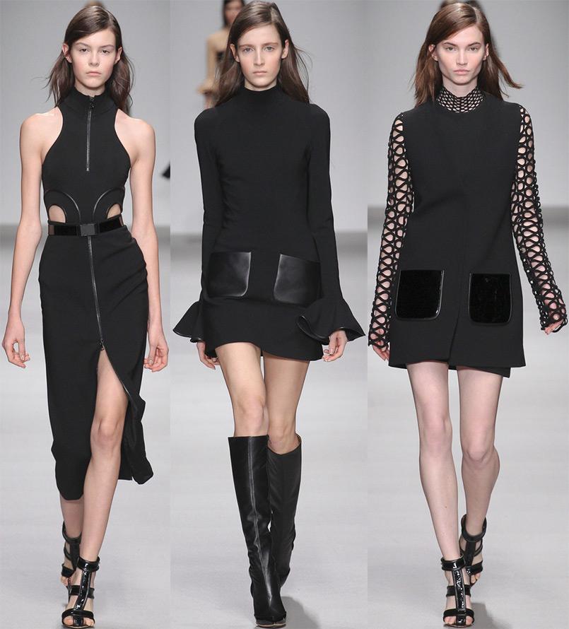 Красивые черные платья 2015-2016
