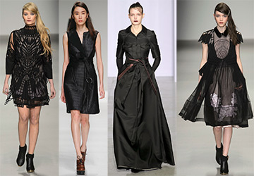 51 черное платье на осень и зиму 2015-2016