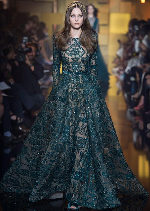 Зеленое платье Elie Saab