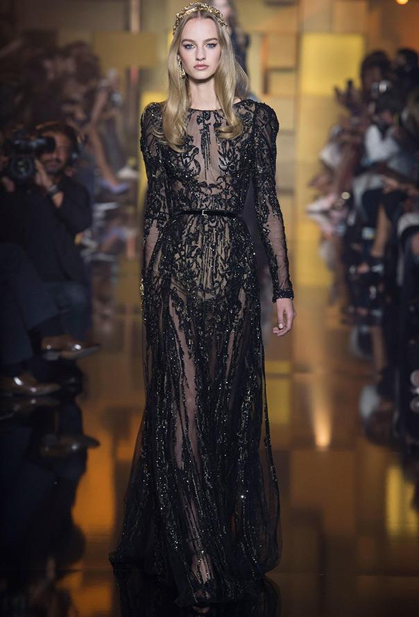 черное платье Elie Saab