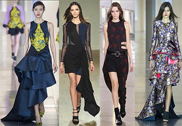 15 Ассиметричных платьев 2015-2016