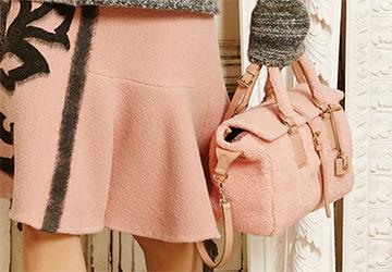 Розовые сумки на осень и зиму