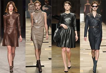 Кожаные платья 2015-2016 и воинственные веганы