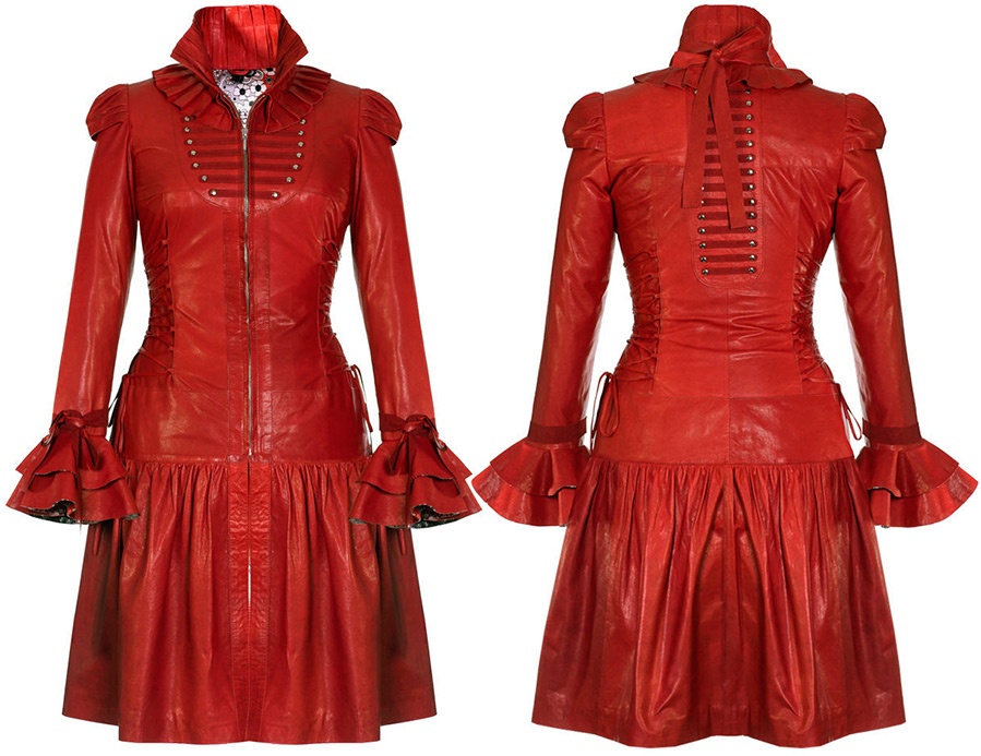 Красное платье-пальто