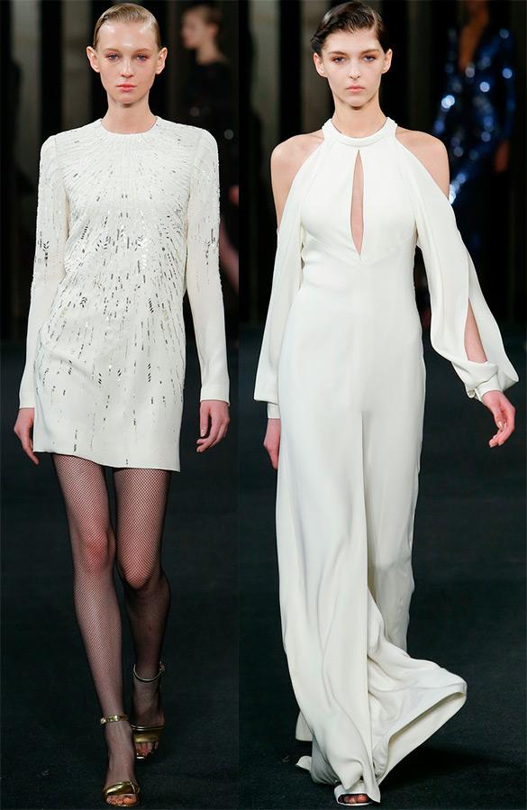 Белые платья осень-зима 2015-2016
