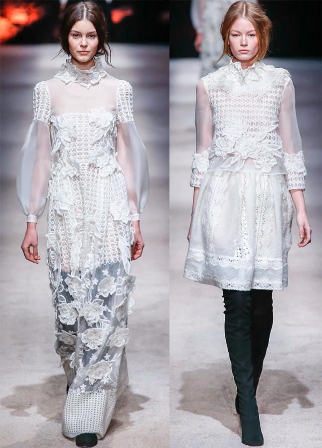 Белые платья Alberta Ferretti