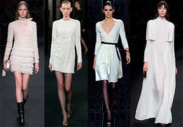 Белые платья из коллекций осень-зима