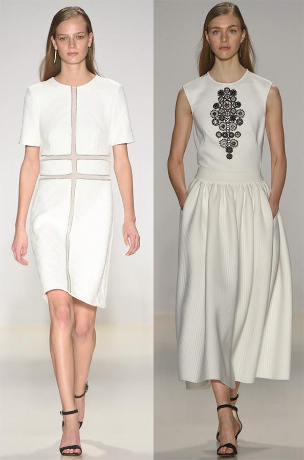 Белое платье осень фото